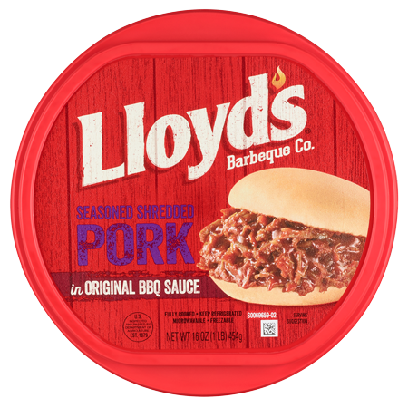 LLOYD'S<sup>®</sup> Seasoned & Shredded Pork in Original BBQ Sauce