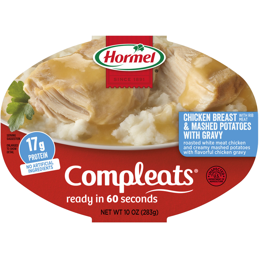 HORMEL<sup>&reg;</sup> COMPLEATS<sup>&reg;</sup> Chicken Breast &amp; Gravy with Mashed Potatoes