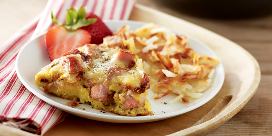 All Natural Ham Frittata with Hash Browns