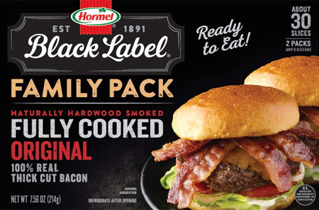 HORMEL<sup>®</sup> BLACK LABEL<sup>®</sup> Family Pack Fully Cooked Bacon
