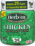 HERB-OX<sup>®</sup> Chicken Bouillon Cubes - 3.3 oz<br />