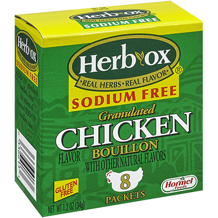 HERB-OX<sup>&reg;</sup> Sodium Free Granulated Chicken Bouillon Packets - 1.2 oz<br />