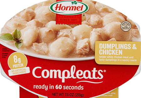 HORMEL<sup>&reg;</sup> COMPLEATS<sup>&reg;</sup> Dumplings &amp; Chicken