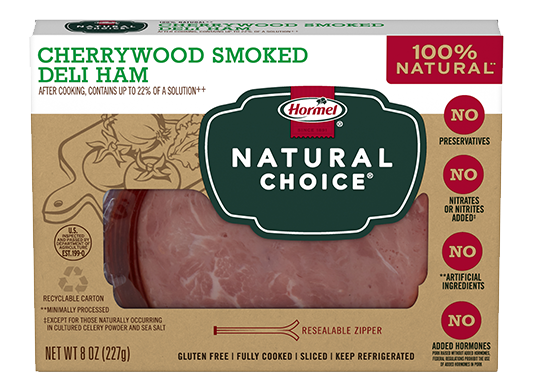 HORMEL<sup>®</sup> NATURAL CHOICE<sup>®</sup> Cherrywood Smoked Deli Ham