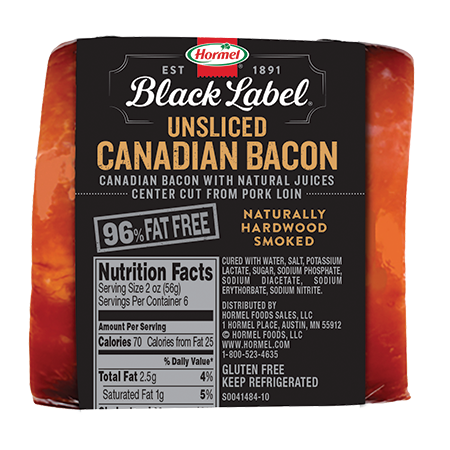 HORMEL<sup>&reg;</sup> BLACK LABEL<sup>&reg;</sup> Canadian Bacon Unsliced