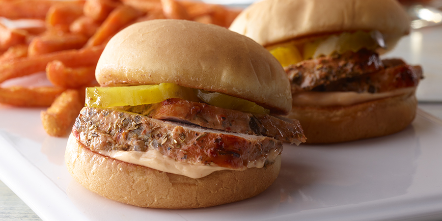 <strong>Sun-Dried Tomato Pork Sliders</strong>