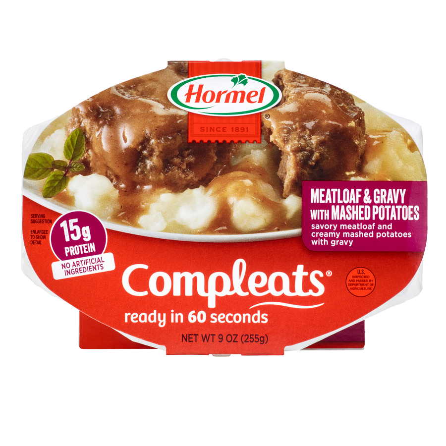HORMEL<sup>&reg;</sup> COMPLEATS<sup>&reg;</sup> Meatloaf &amp; Gravy with Mashed Potatoes