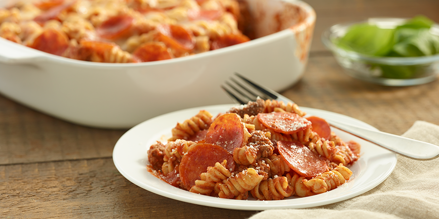 Pepperoni Rotini Bake