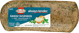 HORMEL<sup>&reg;</sup> ALWAYS TENDER<sup>&reg;</sup> Dry Seasoned Greek Inspired Pork Loin Filet