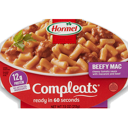 HORMEL<sup>&reg;</sup> COMPLEATS<sup>&reg;</sup> Beefy Mac &amp; Cheese