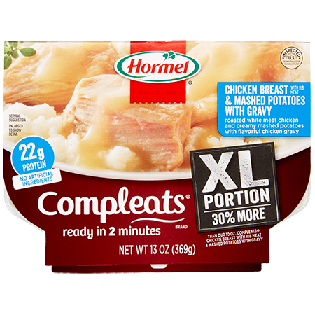 HORMEL<sup>&reg;</sup> COMPLEATS<sup>&reg;</sup> XL Chicken Breast and Mashed Potatoes