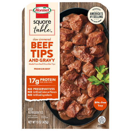 HORMEL<sup>&reg;</sup> Slow Simmered Beef Tips &amp; Gravy