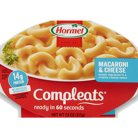 HORMEL<sup>&reg;</sup> COMPLEATS<sup>&reg;</sup> Macaroni &amp; Cheese