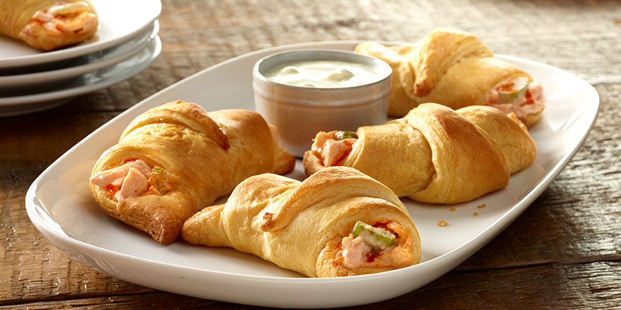 Buffalo Chicken Rollups