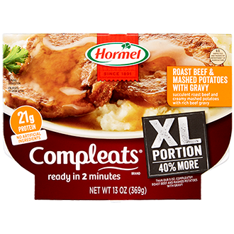 Compleats XL Roast Beef & Mashed Potatoes