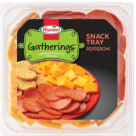 HORMEL GATHERINGS<sup>&reg;</sup> Snack Tray Pepperoni and Cheese 14oz