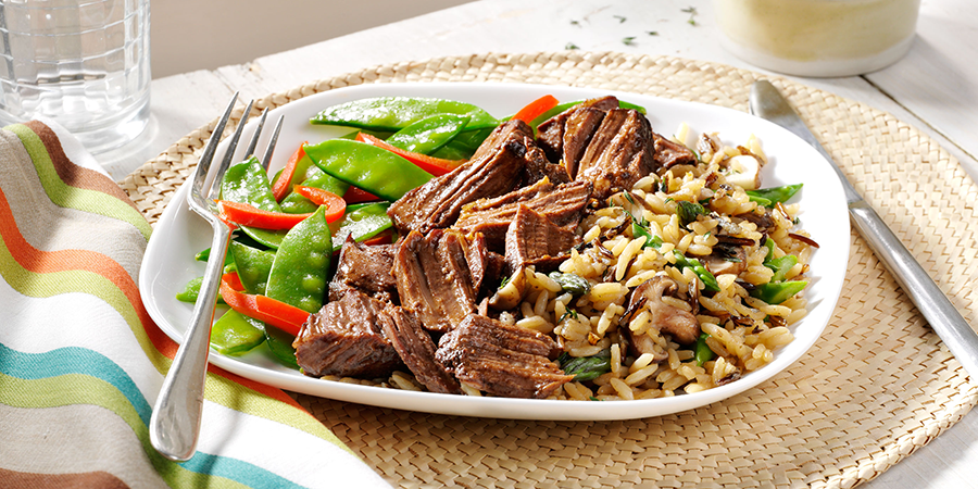 Beef with Spring Vegetable Rice